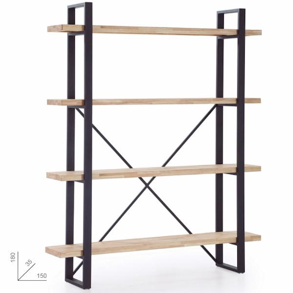 estantería alta urban industrial muebles polque