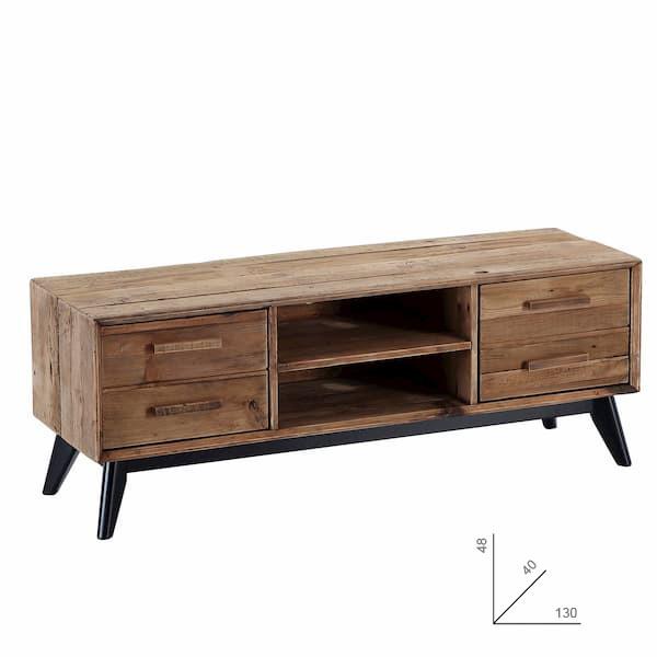 mueble tv madera pino muebles polque