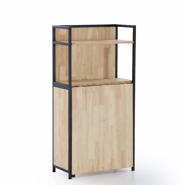 estantería con mesa plegable de roble estilo industrial muebles polque