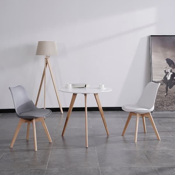 mesa redonda blanca muebles polque