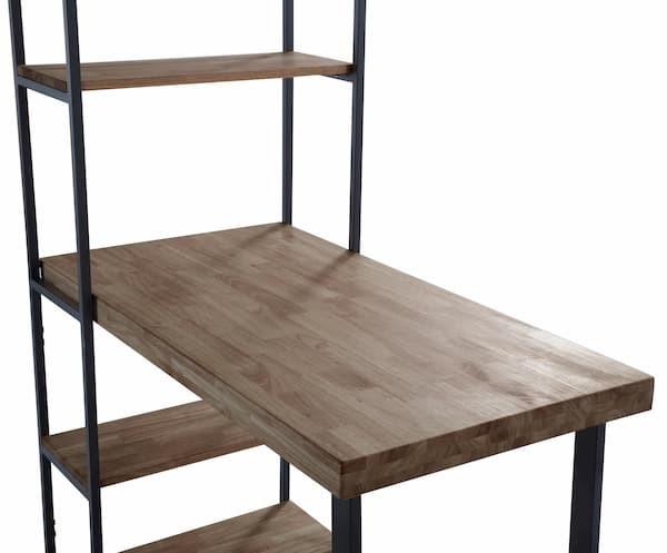 escritorio estantería en roble estilo industrial muebles polque