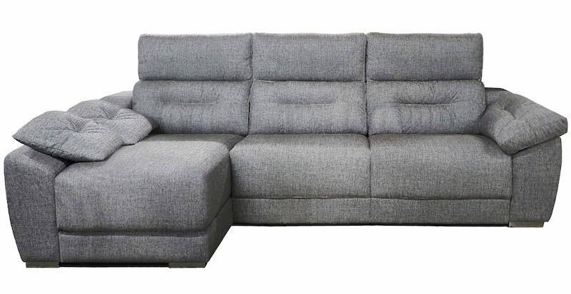 Sofá tapizado aquaclean antracita Muebles Polque