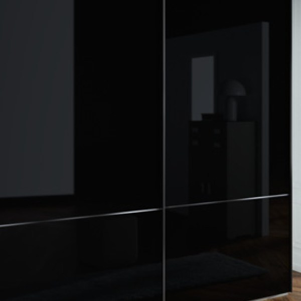 armario cristal negro muebles polque