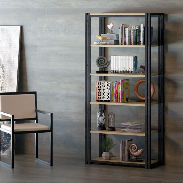 librería madera reciclada muebles polque