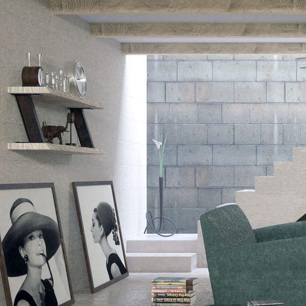 estantería colgada de madera maciza muebles polque