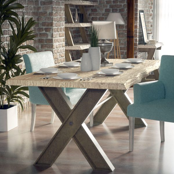 mesa comedor industrial fiore muebles polque