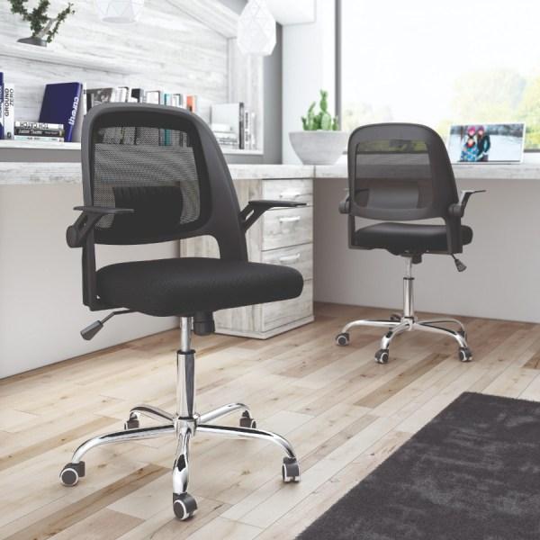 silla de escritorio Kie negra