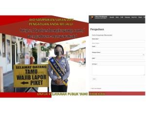 Form Pengaduan Masyarakat untuk pelayanan publik yang lebih baik