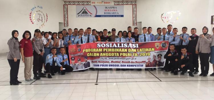 Sosialisasi Pembinaan dan Pelatihan (Binlat) Calon Anggota Polri T. A. 2019 di Wilayah Hukum Polres