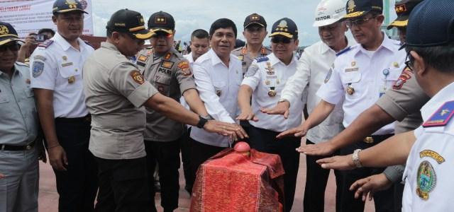 Kapolres Simalungun AKBP Heribertus Ompusunggu, S.I.K.,M.Si., Hadiri Undangan Acara Peluncuran Kapal Ferry 300 GT dan Peletakan Lunas Kapal Ferry Roro 200 GT Untuk Lintas Danau Toba