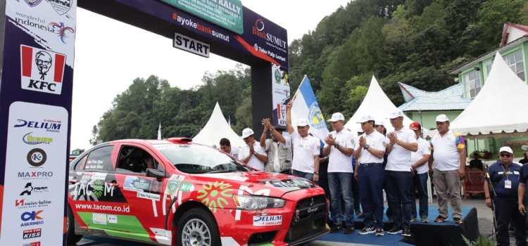 KAPOLRES SIMALUNGUN IKUT CEREMONI PELEPASAN PESERTA LOMBA KEJUARAAN NASIONAL RALLY INDONESIA PUTARAN III TAHUN 2019