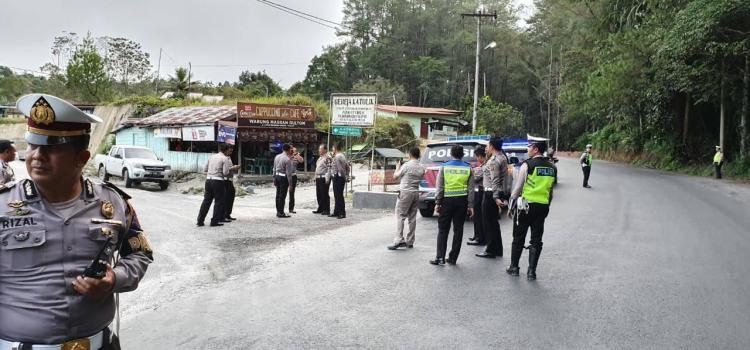 Operasi Lilin Toba 2019, Polres Simalungun Cek Jalur Alternatif Wisata Parapat