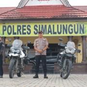 KAPOLRES SIMALUNGUN TERIMA AUDIENSI ROBINSON JOURNEY PESERTA PENJELAJAH INDONESIA