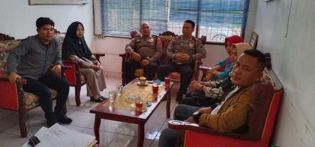 Kapolsek Bangun AKP B. Manurung, SH Terima Kunjungan Panwas 2 Kecamatan