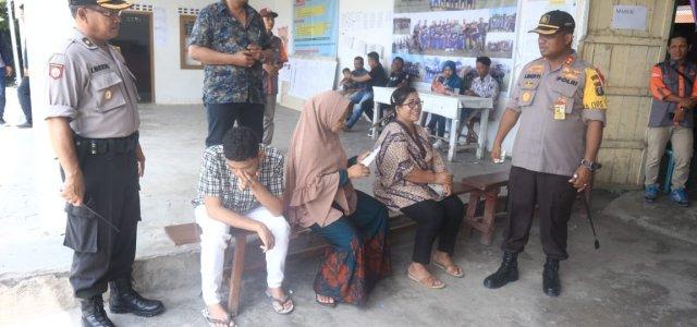 Kapolres Simalungun Tinjau Personil Pengamanan Dan Pelaksanaan Pemilu 2019 di TPS diwilayah Simalungun