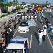 Kapolres Dan Bupati Simalungun Lepas Rombongan Peserta Millenial Road Safety Festival