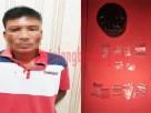 Nelayan berinisial HI (40) beserta BB saat ditangkap Polres Tulang Bawang