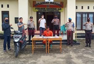 Pelaku percobaan pemerkosaan yang ditangkap Polsek Gedung Aji