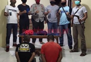Dua pelaku curas terhadap karyawan indomaret yang berhasil ditangkap petugas