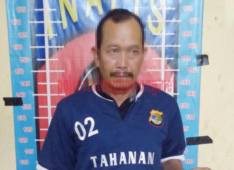 Tersangka korupsi cetak sawah berinisial AH (51) saat ditahan di Mapolres Tulang Bawang