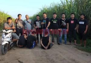 Komplotan pelaku curas di areal PT. SIL saat ditangkap Tekab 308 Polres Tulang Bawang