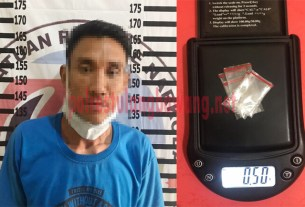 pria berinisial AI (33), warga Kelurahan Ujung Gunung Ilir yang diduga kuat sebagai pengedar narkotika jenis sabu
