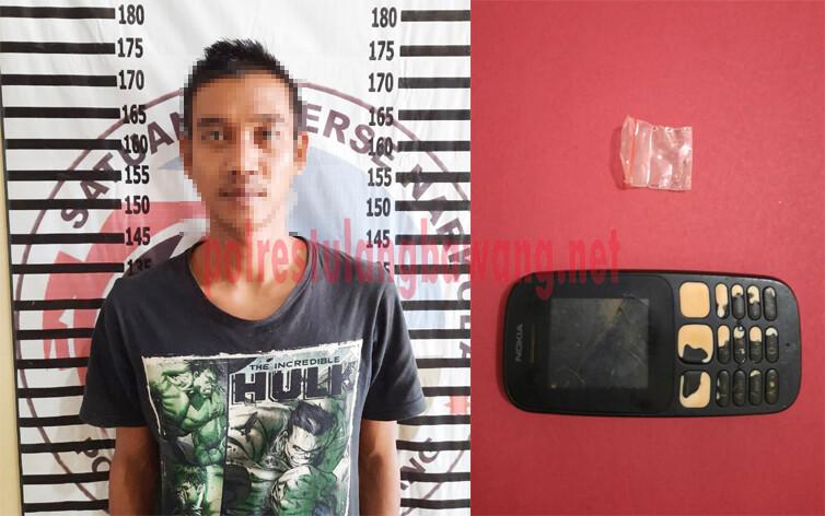 Seorang pemuda berinisial SA (22) berikut BB, merupakan warga Kampung Gunung Tapa Tengah ditangkap Satresnarkoba Polres Tulang Bawang di sebuah bedeng di Kampung Gedung Bandar Rahayu