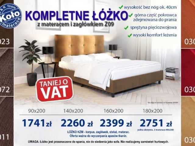 łóżko KZM z materacem