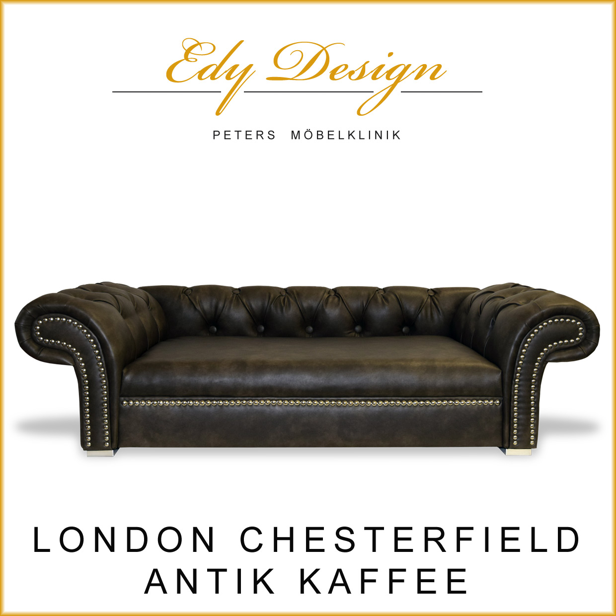 Xxl Chesterfield Sofa Hundesofa London Chesterfield Antik Kaffee Hundebett Xl
