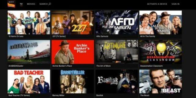 Sony Crackle filmes gratis online