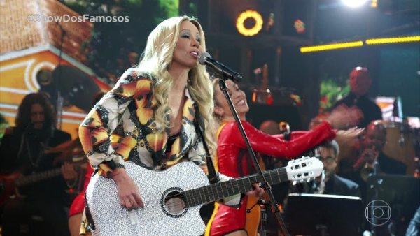 Danielle Winits homenageia Cláudia Leitta no Show dos Famosos Foto Rede Globo