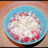 Porridge framboises & noix de coco