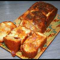 Cake Lardons, Chorizo, Emmental