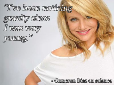 Cameron Diaz on science