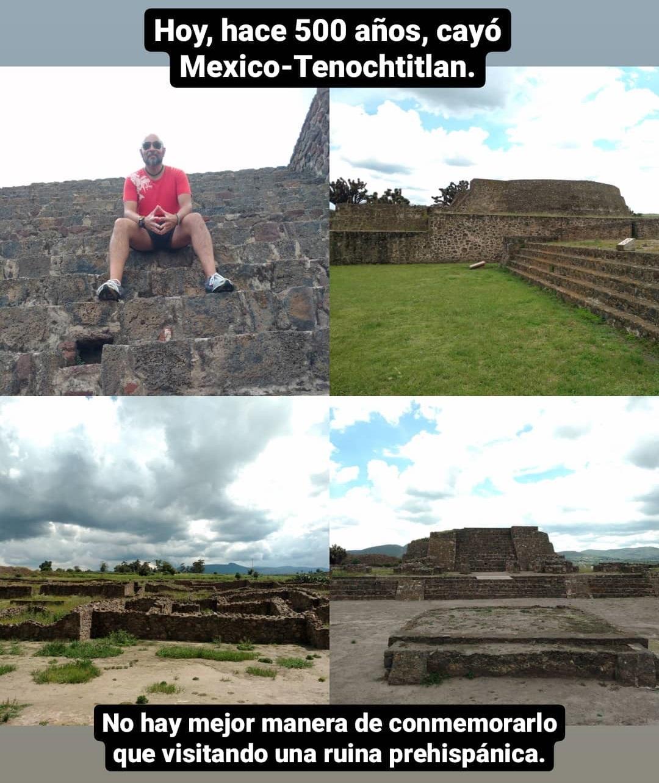 Visitando Tecoaque en Calpulalpan, Tlaxcala, en el 500 aniversario de la caída de Mexico-Tenochtitlan.