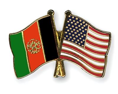 Pin bandera Afgana y Americana.