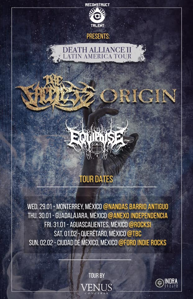 The Faceless y Origin tour en México