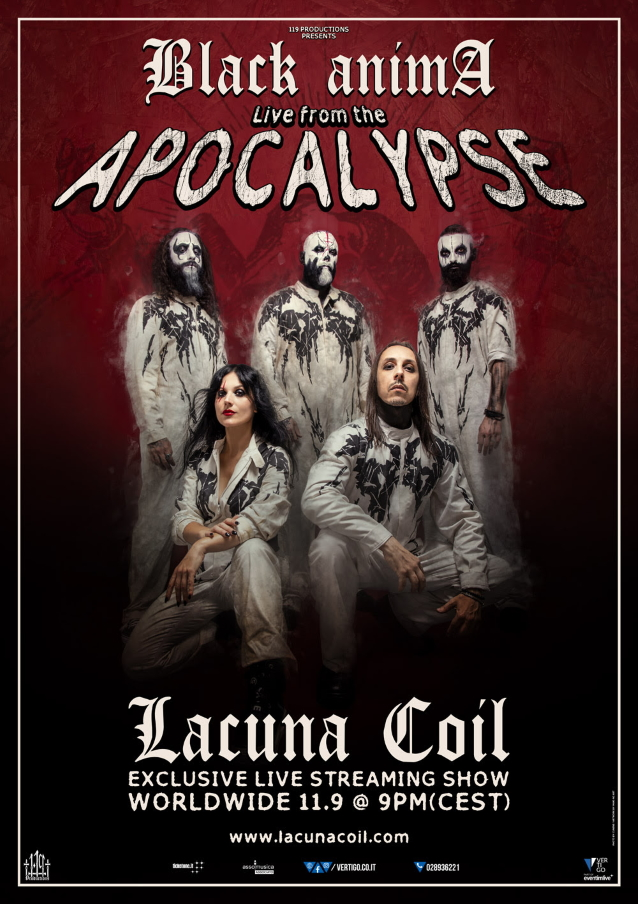 Lacuna Coil tocará Black Anima en streaming