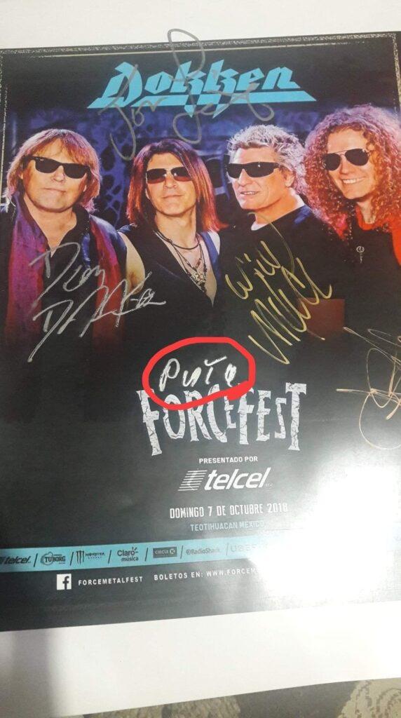 Dokken - Poster Force Fest