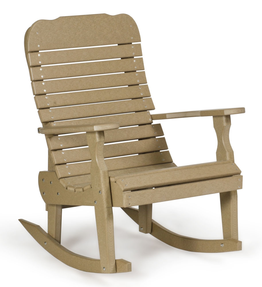 Amish Rocking Chair Amish Poly Single Easy Rocker