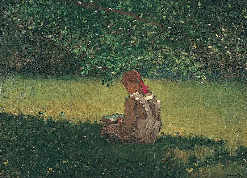 Reading by the Brook by Winslow Homer | PolyArchive