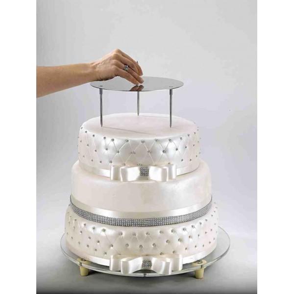 presentoir inox pour wedding cake