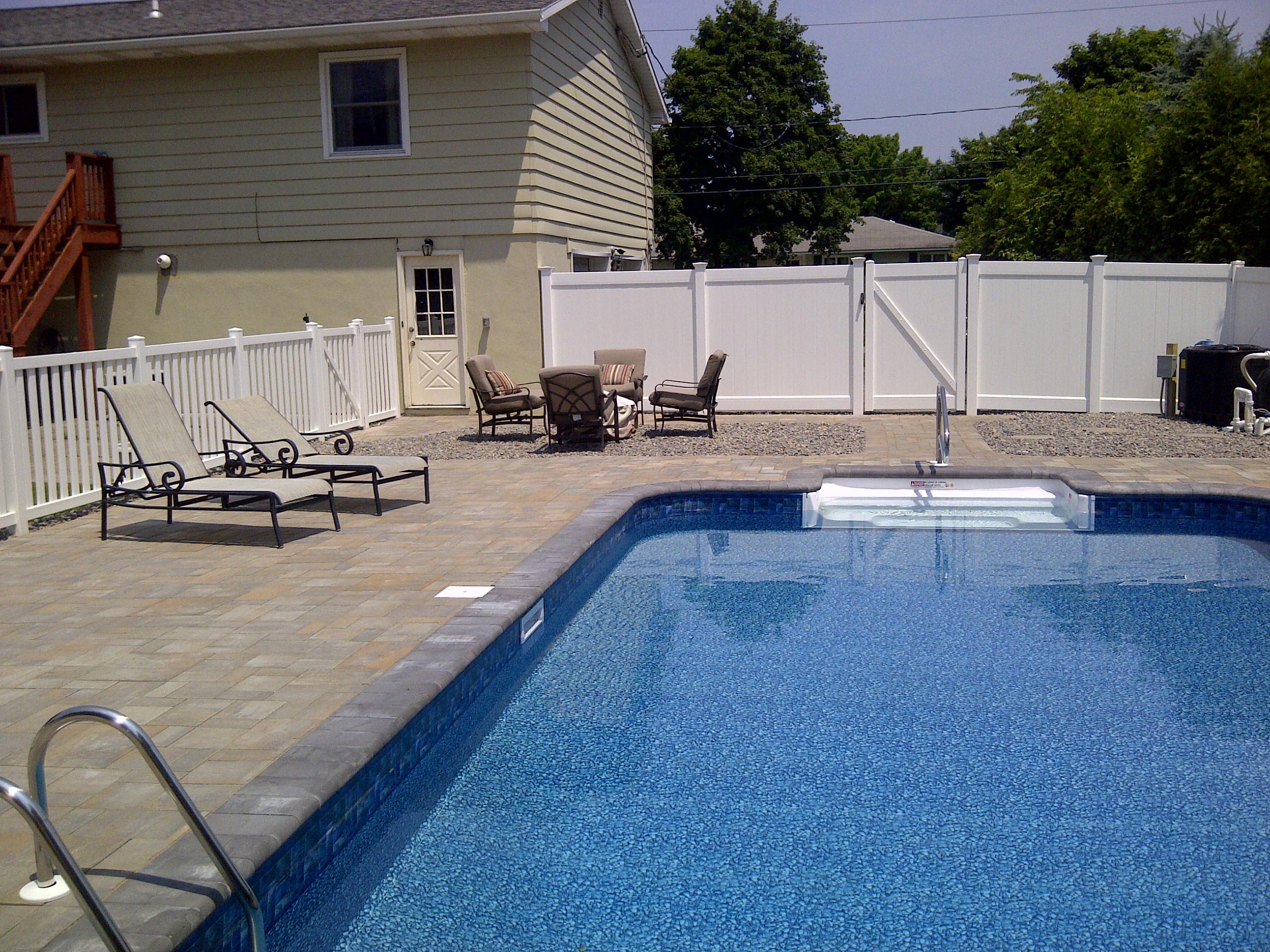 utica fence enclosed pool