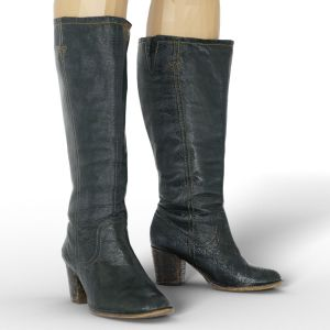 Vintage Boot Black Leather Tall