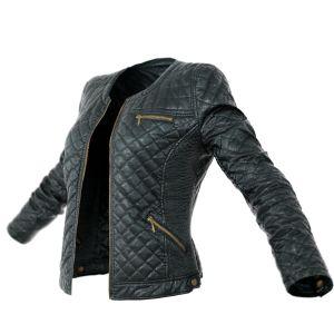 Vintage Jacket Black Leather Padded