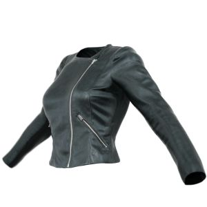Vintage Jacket Black Leather Slim