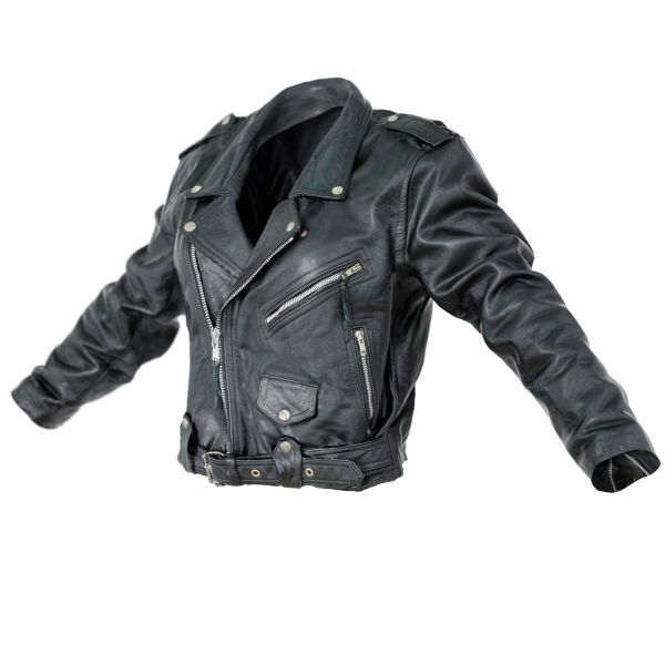 Vintage Jacket Moto Black Leather Closed