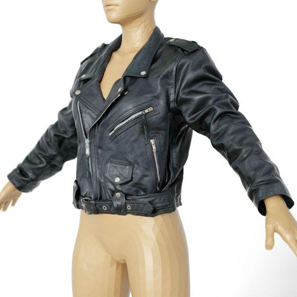 Vintage Jacket Moto Black Leather Closed