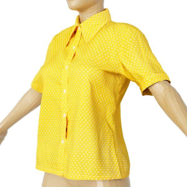 Vintage Shirt Yellow Polka