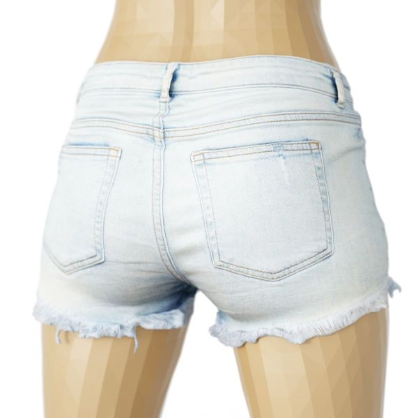 Vintage Shorts Jeans Light Ripped